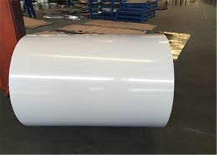 ความแข็งสูง Prepainted ขดลวดเหล็กชุบสังกะสีสีเทาเกรด SS40 DC51D
